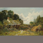 Paul H. Ellis (British, exh.1882-1908) 'Cottage at Tytherley Near Tedstone, Herefordshire', 30.5 x 45.5cm (12 x 18in)