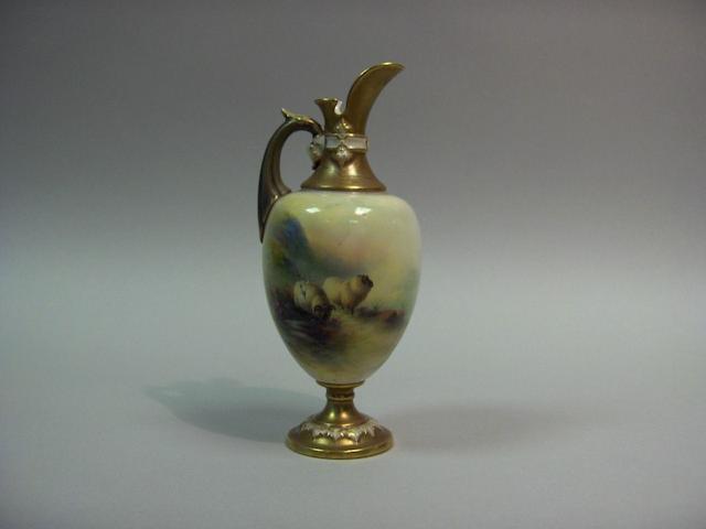 A Royal Worcester ewer,