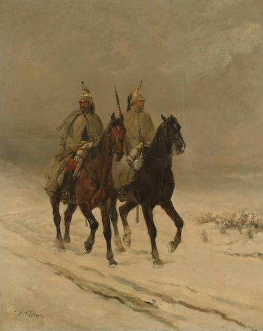 James Alexander Walker  (British 1841-1898) 64 x 52cm (25 1/4 x 20 1/2in)