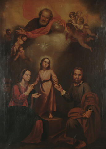 After Bartolome Esteban Murillo The Holy Family, 118.5 x 86cm (46 3/8 x 33 5/8in)