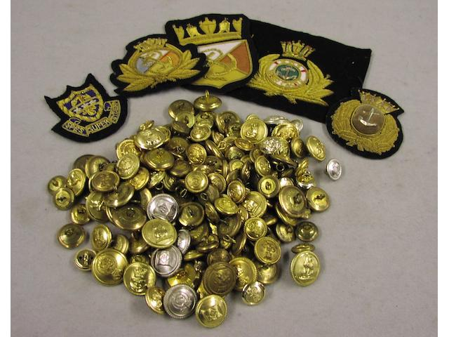 A large collection of Merchant Navy buttons, qty