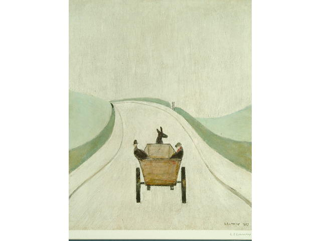 Laurence Stephen Lowry (1887-1976) 'The Cart' 49 x 39.5cm.