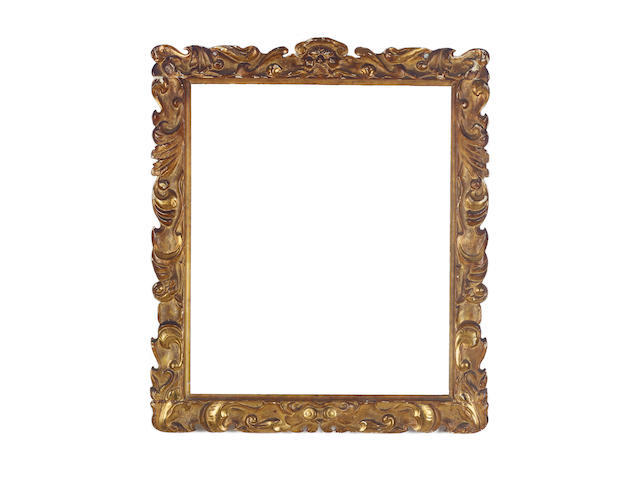 An English late 17th Century carved and gilded Sunderland frame