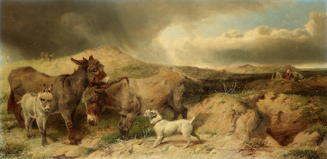 Richard Ansdell, RA (British 1815-1885) The common 53 x 107 cm. (21 x 42 in.)