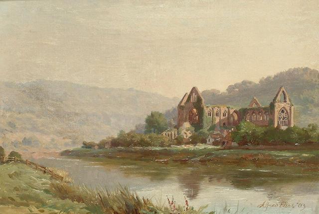 Alfred Elias (British, fl. 1881-1911), Ruins of Tintern Abbey, 22.7 x 33cm (9 x 13in)