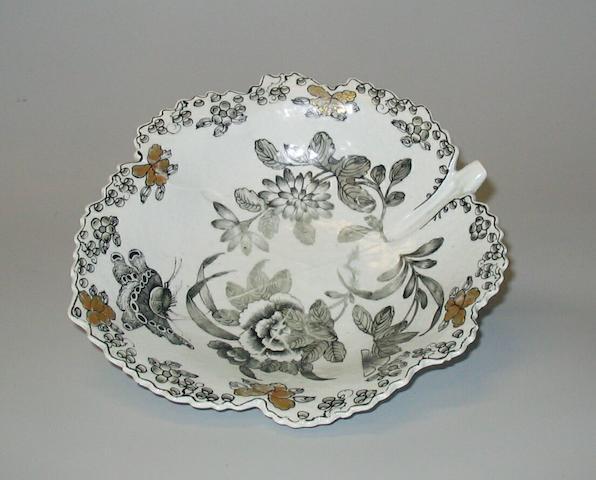 A Worcester leaf dish circa 1760