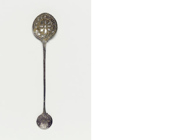 A silver inlay bronze spoon