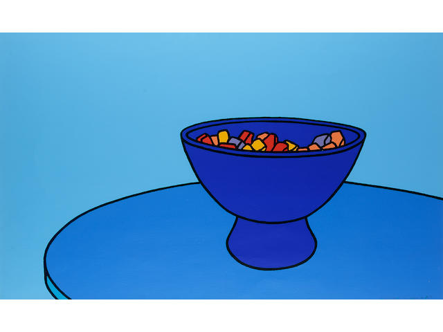 "Patrick Caulfield Sweet Bowl Screenprint, in colours, 1967, on wove, signed and inscribed ""printer's proof 5/5"" in pencil (aside from the standard edition of 75), printed at Kelpra Studio, published by Editions Alecto; in excellent condition, 557 x 912mm (21 7/8 x 35 7/8in)(SH)"