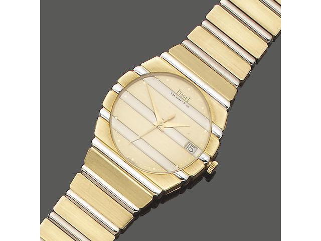 Piaget. A gentleman's 18ct gold bracelet watch