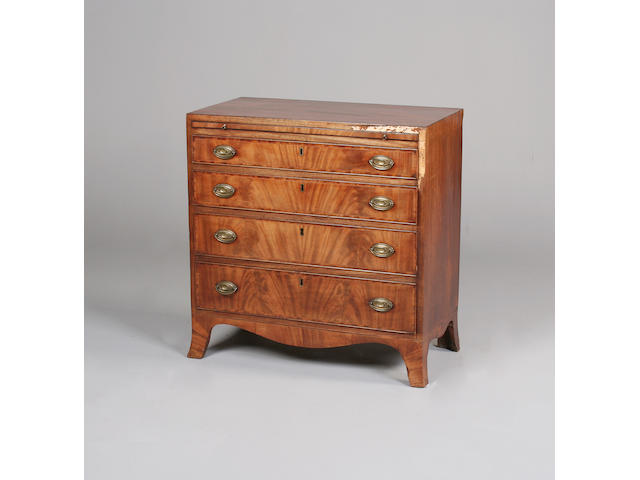 A small Regency mahogany chest
