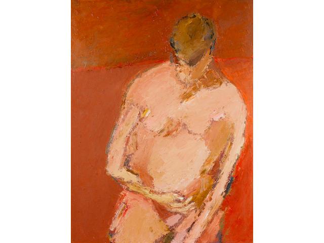 Tyeb Mehta Pink Figure