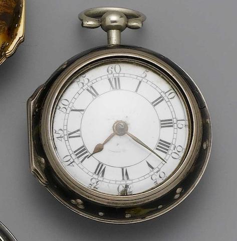 An 18th century pair cased pocket watch G. Clayton, London