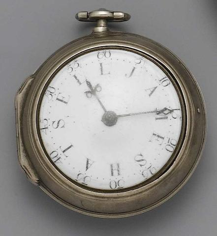 An 18th century pair cased pocket watch J.Eley of London