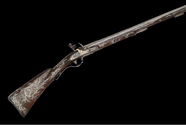 A Very Rare Russian 14-Bore Flintlock Sporting Gun