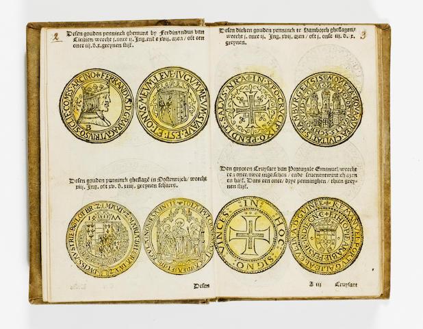 NUMISMATICS Het thresoor oft schat van alle de specien, figuren, en sorten van gouden ende silveren