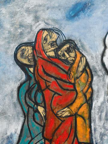 Francis Newton Souza (India, 1924-2002) Last Howl from the Cross