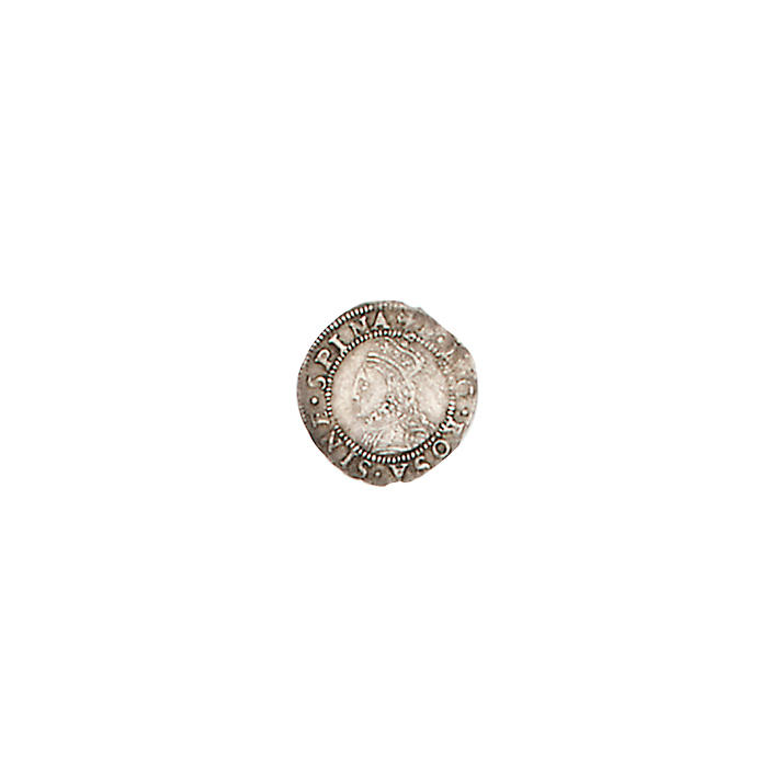 Elizabeth I, second issue (1560-61), Penny, 0.5g, m.m. cross crosslet, crowned bust left without rose and date,