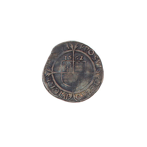 Elizabeth I, third issue (1561-65), Sixpence, 3.1g, 1562/1, m.m. pheon, crowned head left with rose and date