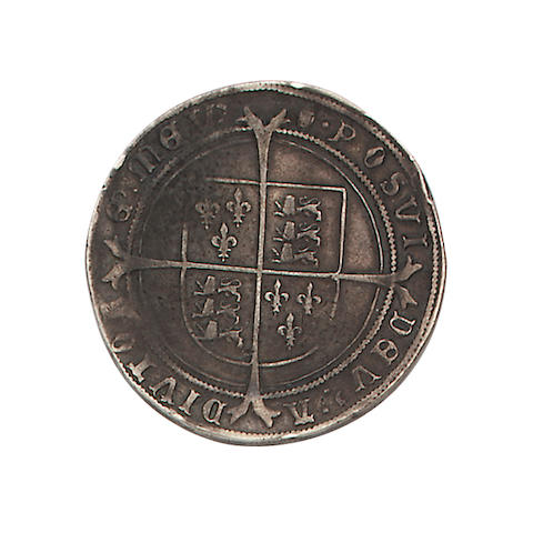 Edward VI, third period (1550-53), fine silver issue (1551-53), Crown, 30.8g, king on horseback with date below horse, 1553, unaltered date and round topped 3, EDWARD VI DG AGL FRA Z hIB REX,