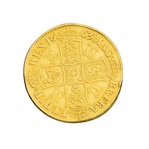 Charles II, Proof Crown, 1663,