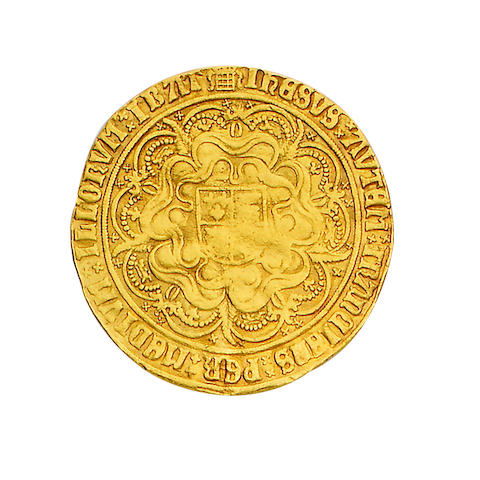 Henry VIII, 1509-1547, Henry VIII, first coinage (1509-26), Sovereign, 15.3g, king enthroned holding orb and sceptre, portcullis at feet, HENRICUS DEI GRACIA REX ANGLIE ET FRANC DNS HIB,