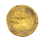 Mary, Sovereign, 15.5g, queen enthroned holding orb and sceptre, portcullis at feet, date MDLIII, at end of legend,