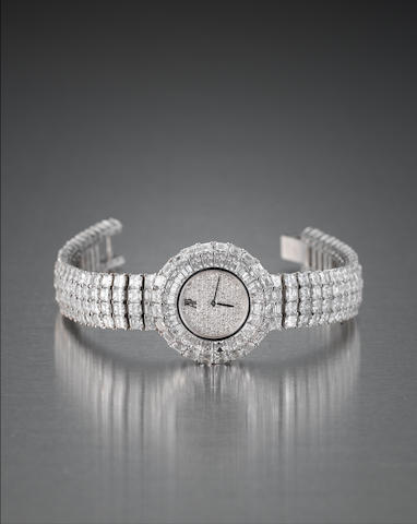 A lady's diamond-set wristwatch, by Audemars Piguet
