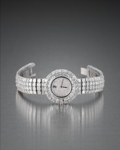 A lady's diamond-set wristwatch, by Audemars Piguet