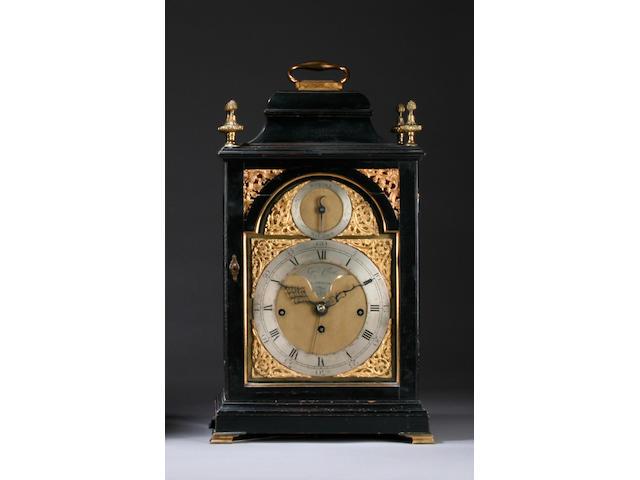 An ebonised chiming bracket clock, George Clerke, London, circa 1780,