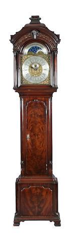 A Spanish mahogany longcase clock, John Livesey, Bolton, circa 1750,