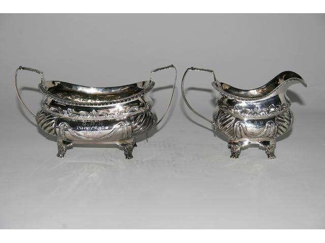 A George III cream jug,