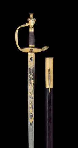 A Very Rare Russian Gilt-Mounted Valour Sword Relating To The Napoleonic Wars