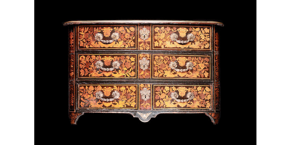 A Regence marquetry and ormolu commode, circa 1720
