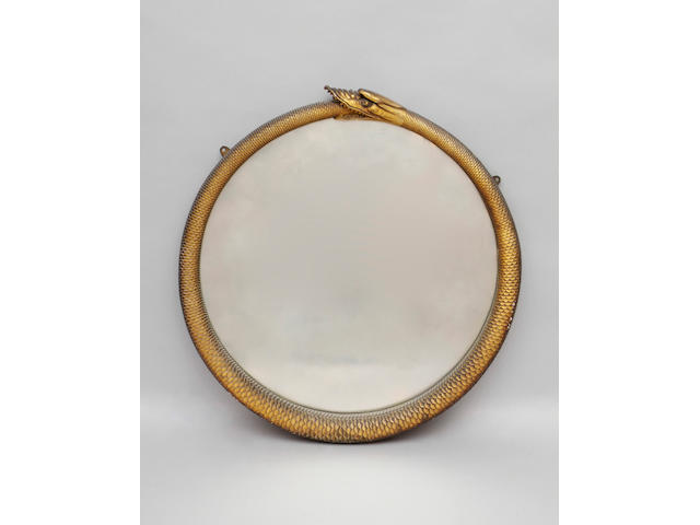 A 19th Century gilt gesso circular wall mirror