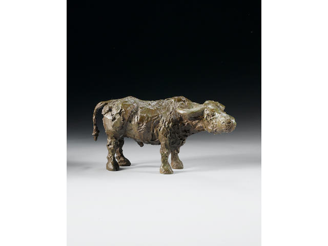 Dame Elisabeth Frink R.A. (1930-1993) Standing Buffalo 36 cm. (14 1/8 in.) long