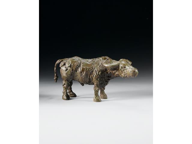 Dame Elisabeth Frink R.A. (1930-1993) Standing Buffalo 36 cm. (14 1/8 in.) long