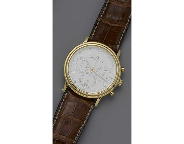Blancpain. An 18ct rose gold automatic chronograph wristwatch  No.1051, recent