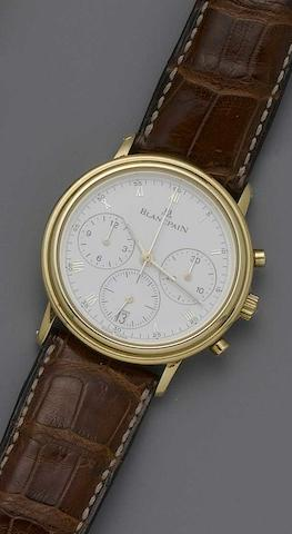 Blancpain. An 18ct rose gold automatic chronograph wristwatchNo.1051, recent