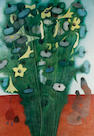 Edward Burra Still life vase of flowers w/c