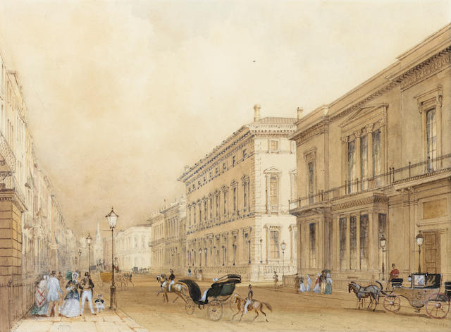 George 'Sidney' Shepherd, N.W.S. (British, 1784-1862) The British Museum; Pall Mall with the Reform Club to the right 20 x 30 cm. (8 x 11 3/4 in.); 20 x 27 cm. (8 x 10 1/2 in.) (2).