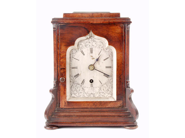 A Regency rosewood cased library timepiece Redwood, Park Street, Camden-Town,