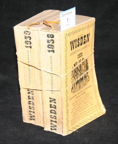 Wisden Cricketers' Almanack - 1938, 1939