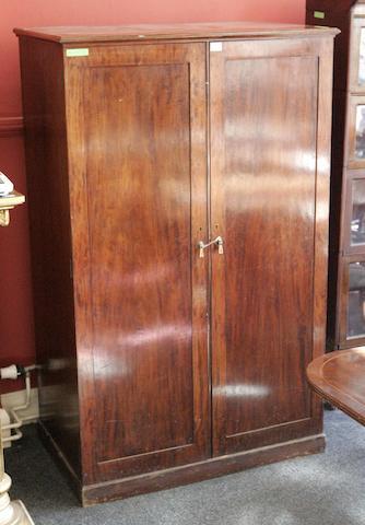 An early 20th century mahogany dentistry cabinet