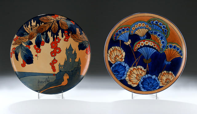 Charlotte Rhead for Bursley Ware, a charger