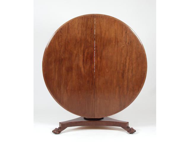 A mid Victorian mahogany loo table