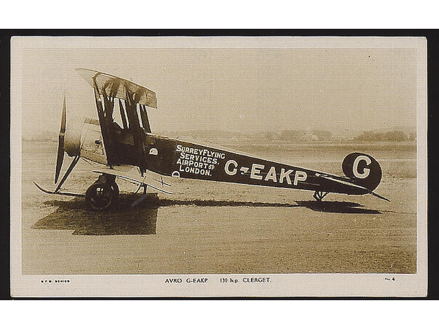 Aviation A collection of loose old to modern, used and unused inc. real photographs, Imperial Airways, Croydon Airport, Surrey Flying Services, KLM, Amy Johnson etc., G-EX.  (148‡). Photo E£200/300