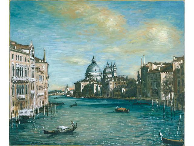 Giorgio de Chirico (1888-1978) Canal Grande, la Salute 50 x 60 cm. (19 3/4 x 23 5/8 in.)