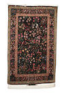 A Tabriz part silk rug North West Persia, 233cm x 142cm signed