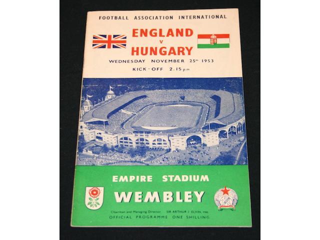 A box of football programmes