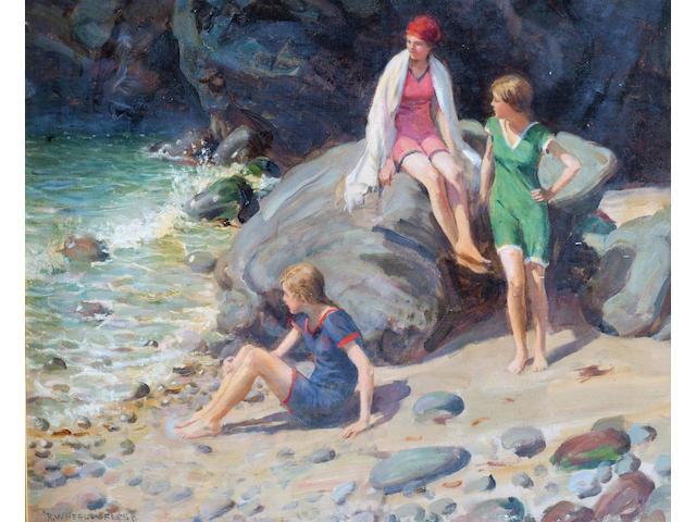 Roland Wheelwright (1870-1955) 'The Bathers' 50 x 60cm